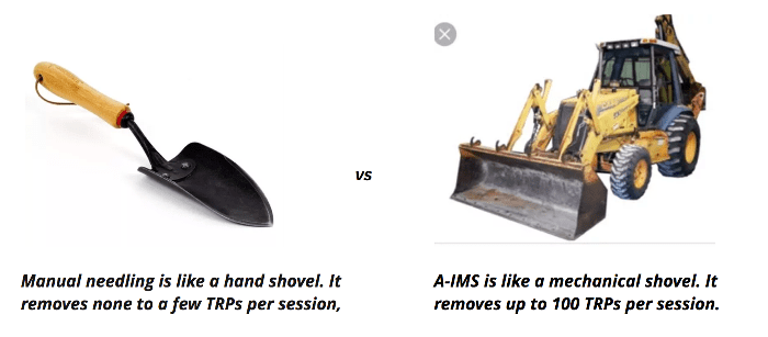 portrait of a shovel and a truck