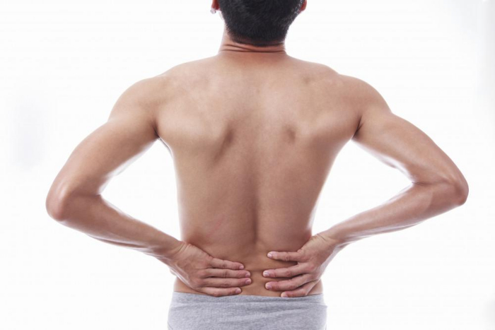 man having back pain
